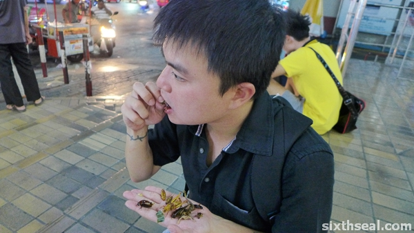 eating insects bangkok
