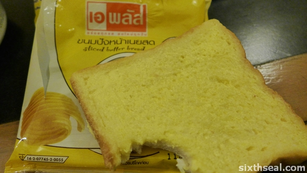 sliced butter bread