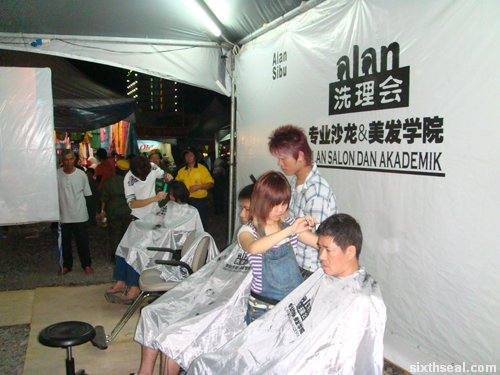 haircutting demo