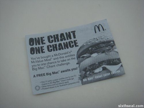 big mac chant coupon