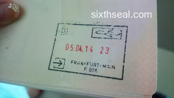 Frankfurt Passport Stamp
