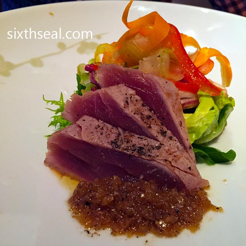 Fine dining for Sashimi dressing