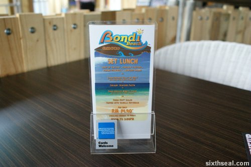 bondi beach set lunch