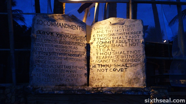 10 commandments boracay