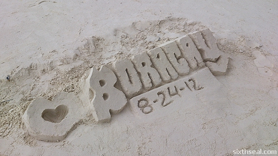 boracay white beach sandcastle