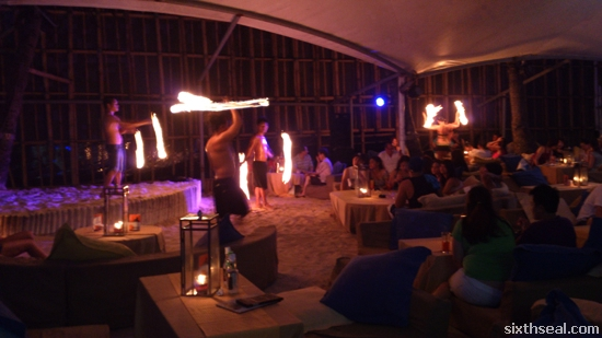 fire dancers boracay