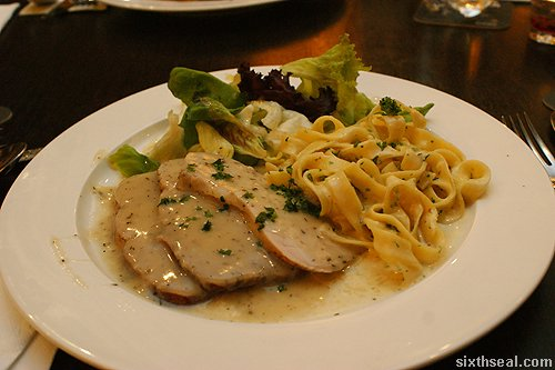 Roast Pork with Chardonnay and Thyme Sauce