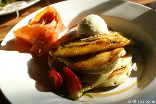 buttermilk pancakes salmon