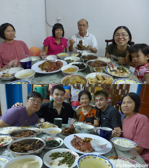 cny 2013 reunion dinner