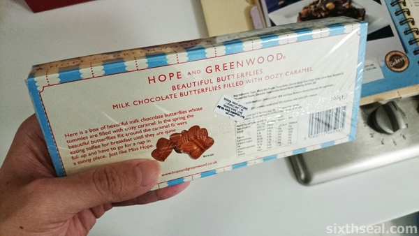 hope greenwood chocolate butterflies