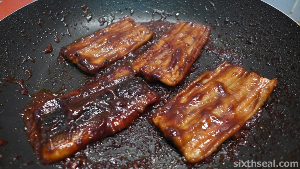 caramelized unagi