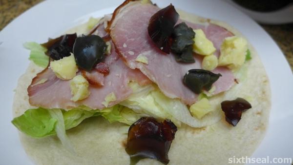 century egg fajitas