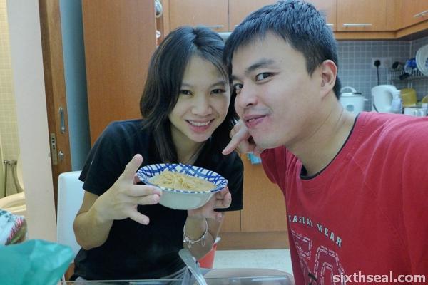 cooking mee sua