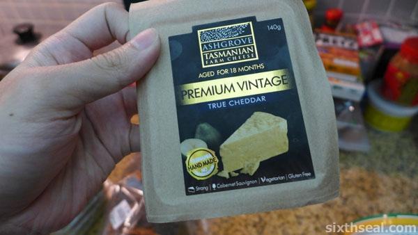 homemade vintage aged cheddar