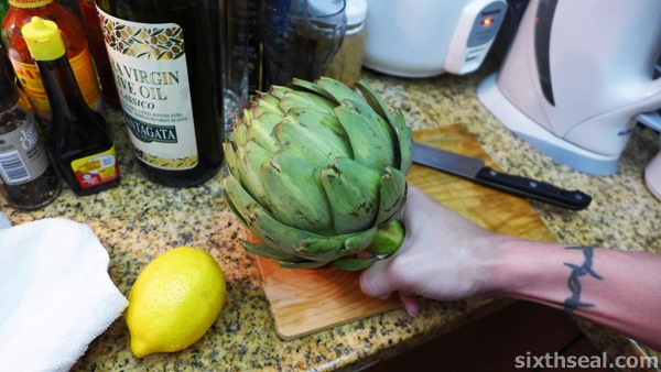 preparing artichoke
