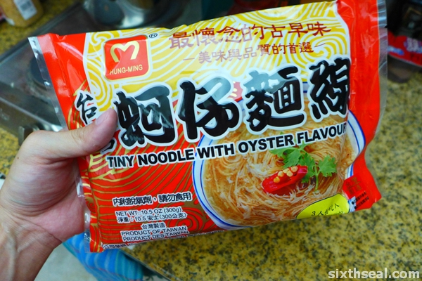 tiny noodle oyster flavour