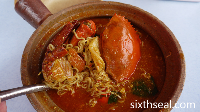 Maggi Crab Noodles