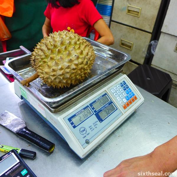 green bamboo durian