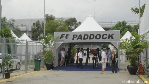 f1 paddock