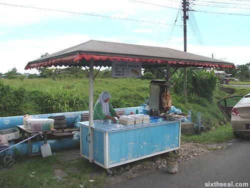ferry kebab stall