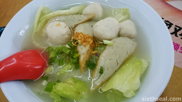 Grouper Fishball Noodles