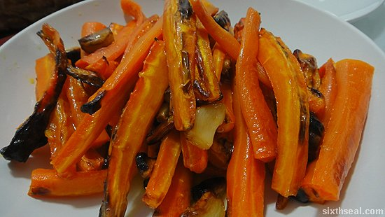 baked carrot garlic