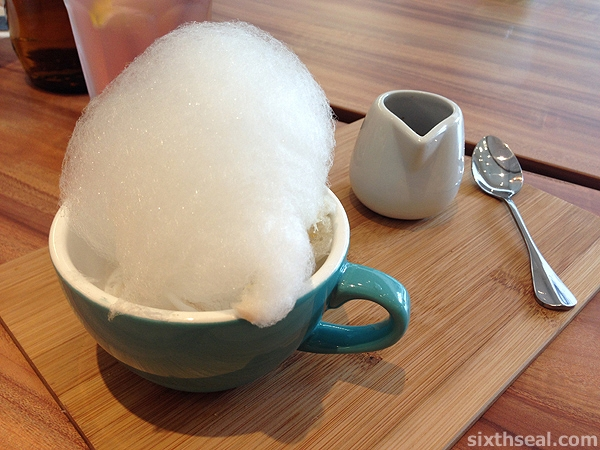 cotton candy affogato
