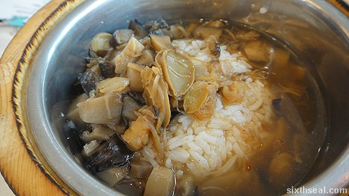 dried scallops petite abalone mixed rice