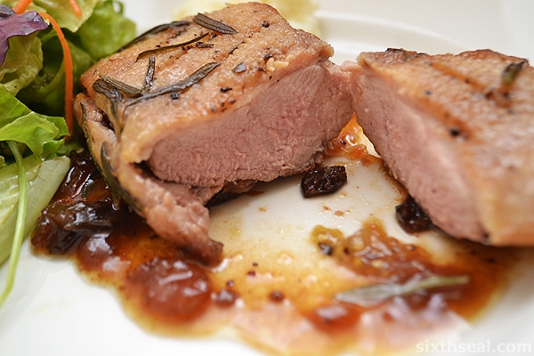 duck breast sliced