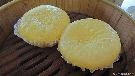 flowing custard bun