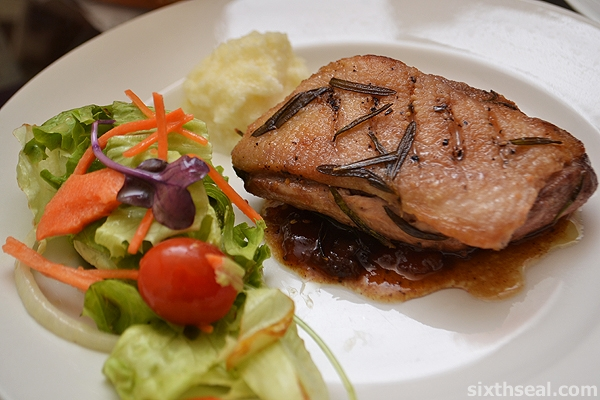 pan fried duck