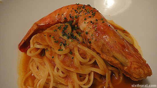 tiger prawn linguine