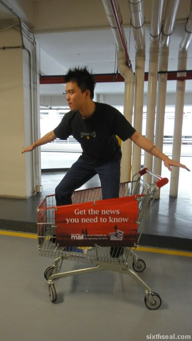 supermarket trolley surfing