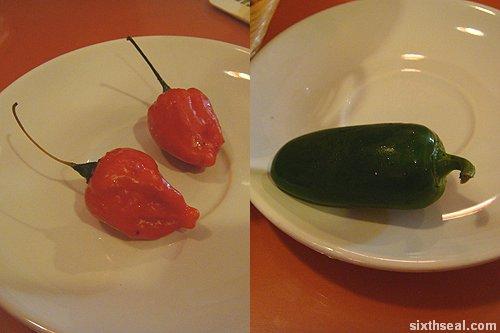 fresh chilis