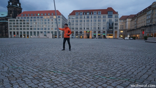 leaning pole dresden square