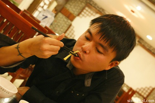 eating snake skin
