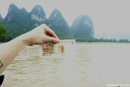 gui lin li river 20 yuan