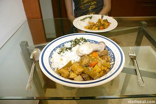 japanese curry serve