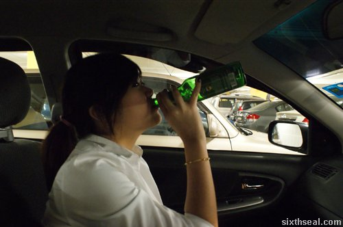 kamen drinking