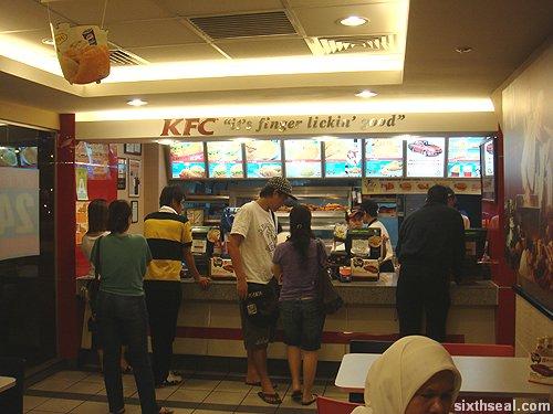 kfc counter