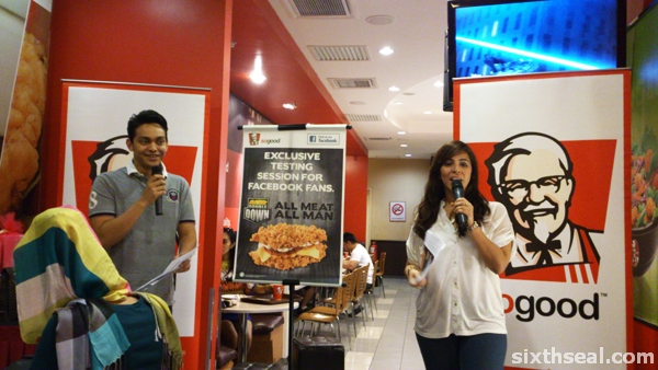 kfc double down tasting session