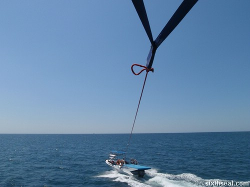 parasailing boat