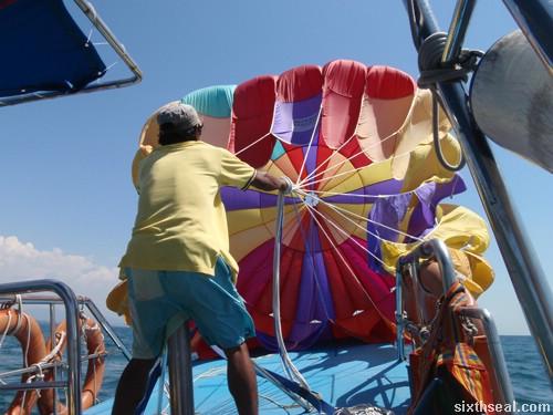 parasailing setup