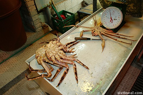 Alaskan King Crab weigh