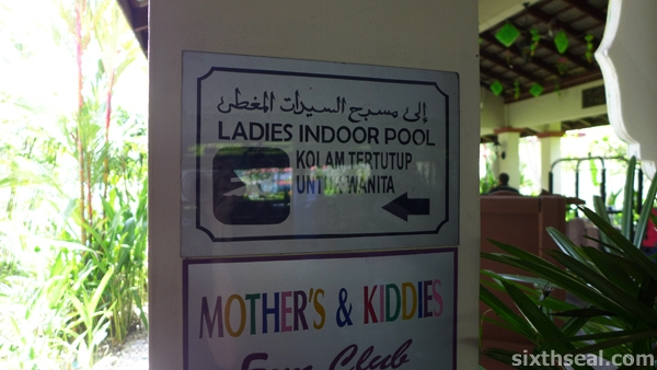 ladies indoor pool