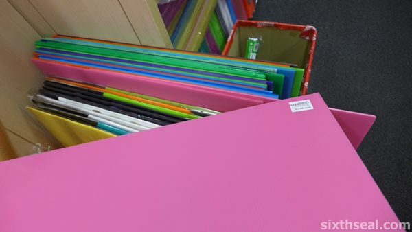 3m pink corrugated board