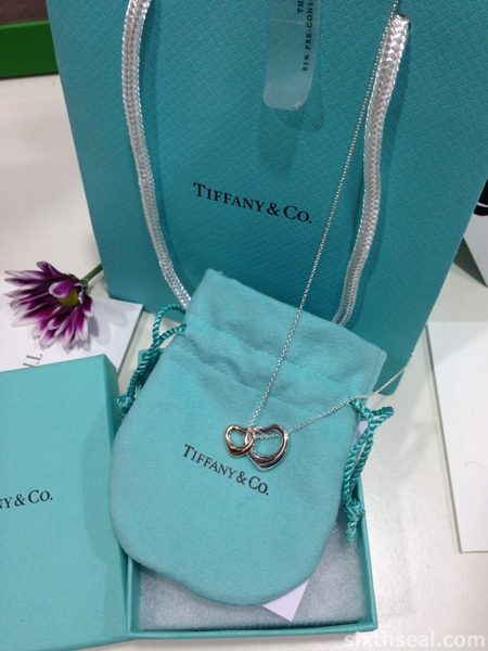 Tiffany Double Heart Pendant