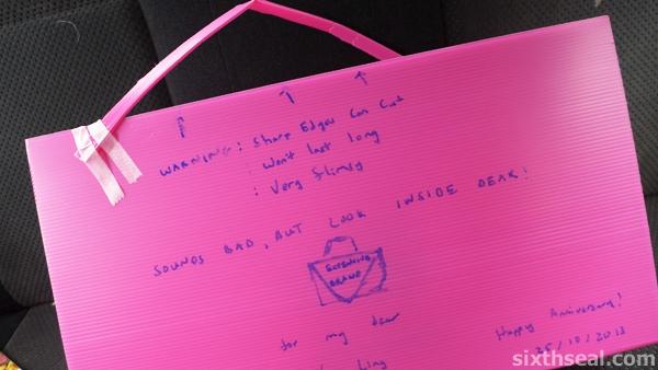 pink handmade handbag