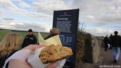 stonehenge rock cake