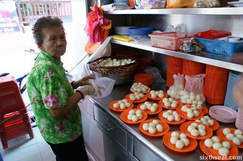 rolling rice balls